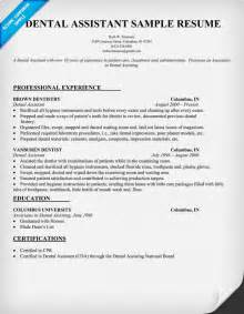 resume template for dental assistant dental resume writing tips