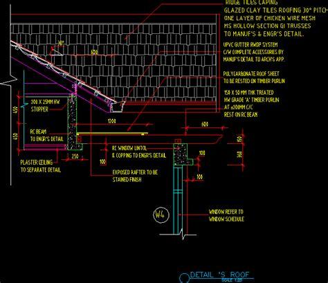 roof detail  autocad  cad   kb