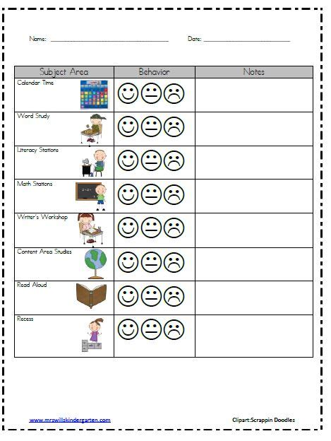 25 best ideas about kindergarten behavior charts on