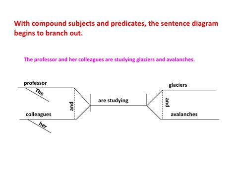 compound sentence diagram diagramming sentences