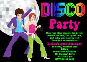 disco party invitation 70s 80s 90s disco dance party