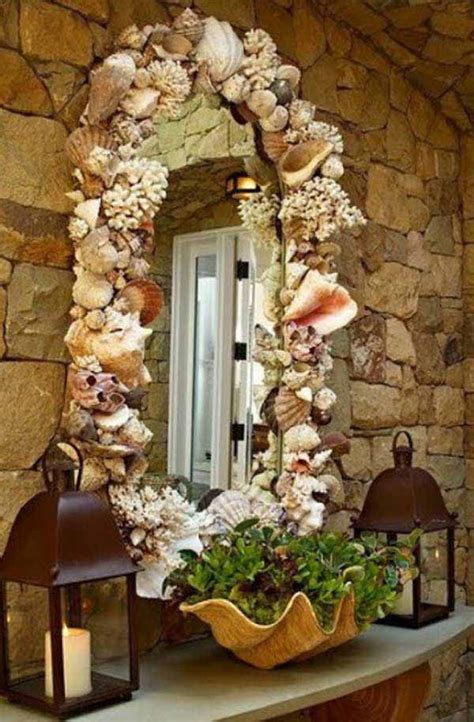 How To Decorate A Mirror With Shells by 36 Breezy Inspired Diy Home Decorating Ideas
