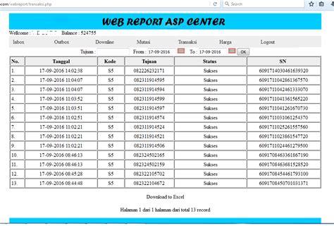 membuat webreport server pulsa add on web report software server pulsa otomax jasa