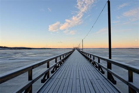 long bridge  raettvik dalarna county sweden royalty
