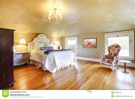white luxury bedroom gold luxury bedroom with white bedding stock photo