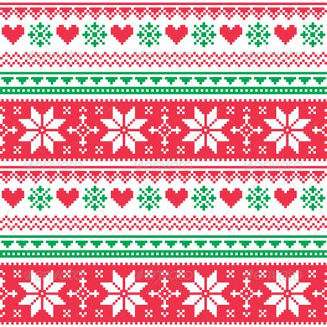 nordic pattern ai nordic seamless knitted christmas red and green graphicriver