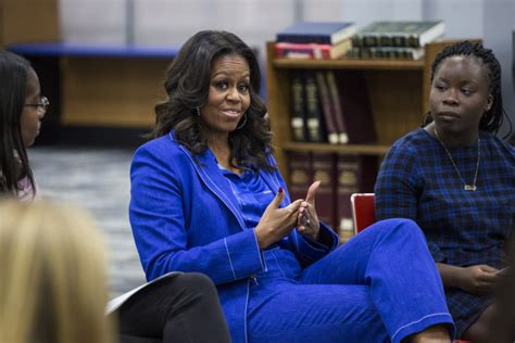 michelle obama whitney young michelle obama visits her alma mater whitney young to