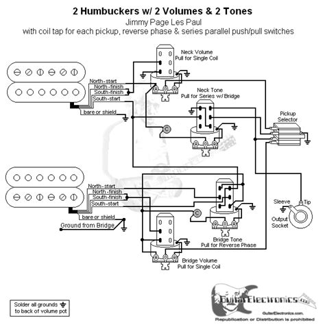2 Hbs 3 Way 2 Vol 2 Tone Coil Tap Series Parallel Phase