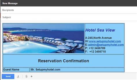 Software Manajemen Hotel D Pms Starter Version reservation booking confirmation template html