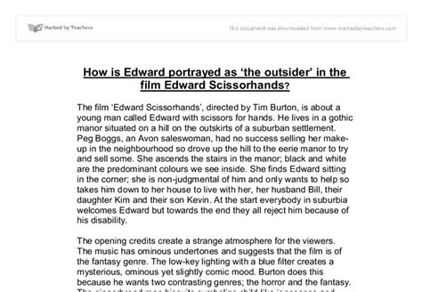 Edward Essays by College Essays College Application Essays Essay On Edward Scissorhands