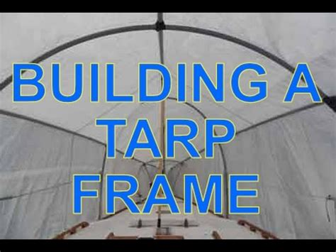 pontoon boat shrink wrap frame how to build a tarp frame for a boat youtube