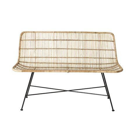 sofa rattan bloomingville rattan sofa living and co