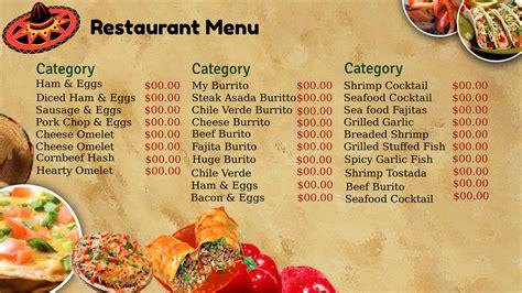 healthy food menu illustration stock vector image 46134059