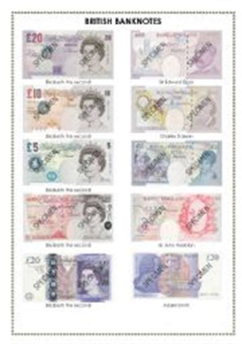 money template pounds worksheet banknotes