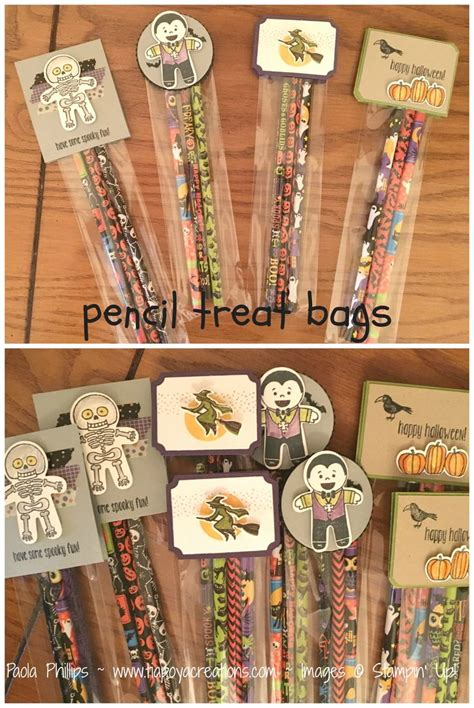 Handmade Treat Bags - pencil treat bags handmade by phillips 2
