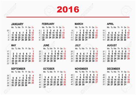Timeshare Week Calendar 2018 2016 Timeshare Weeks Calendar Yearly Calendar Printable