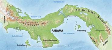 physical map of panama central america physical features map america map