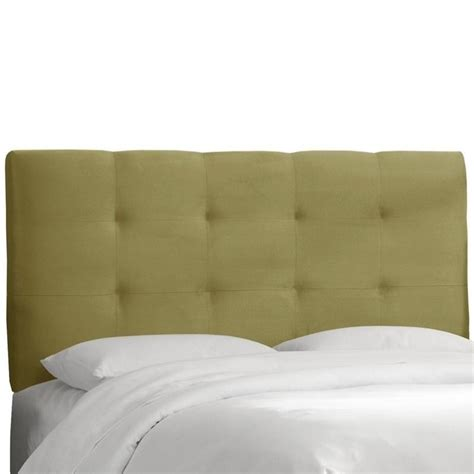 green tufted headboard skyline tufted panel headboard in green 27xxprmsg