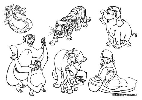 Jungle Book Coloring Pages Free