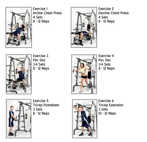 marcy md 9010g smith machine chest workout