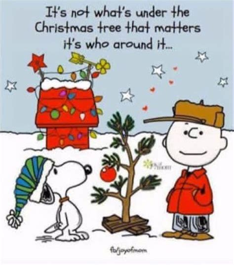 charlie brown christmas its not whats under the tree quote its not whats the tree that matters pictures photos and images for
