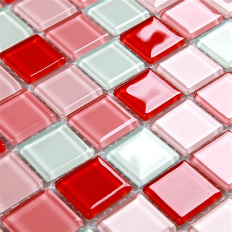 red and white tiles for bathroom pink red white glass tile backsplash kitchen bathroom wall