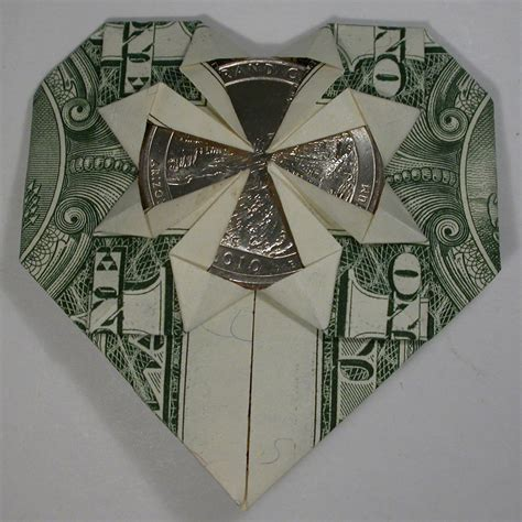 Money Origami With Quarter - origami dollar bill with grand quarter 3