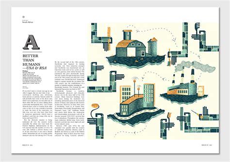 magazine layout jobs in johannesburg editorial illustrations monocle magazine on behance