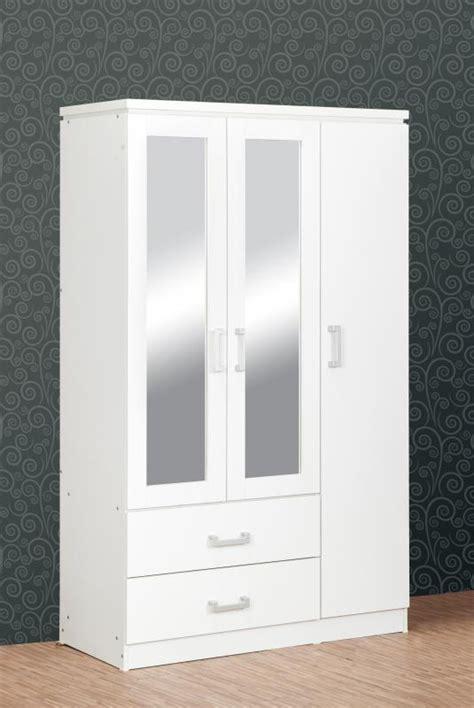 charles door mirrored wardrobe white bedroom furniture flatpackgo