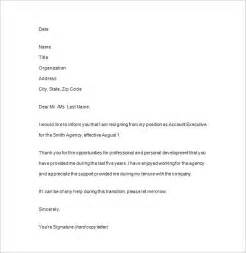 notice of resignation 11 free samples examples format