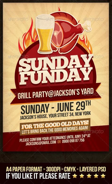 12 Best Images About Bbq Poster On Pinterest Gourmet Grill Flyer Template And Metal Signs 12 Days Of Flyer Template
