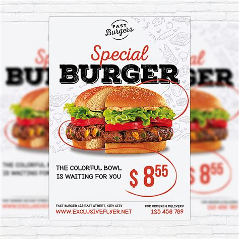 template flyer burger special burger premium flyer template facebook cover