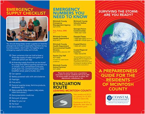 Mcintosh County Hurricane Preparedness Brochure On Behance Emergency Preparedness Brochure Template