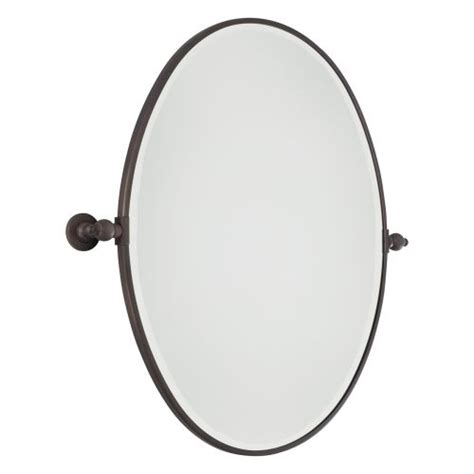 oval pivot bathroom mirror minka lavery 1433 267 dark brushed bronze pivoting