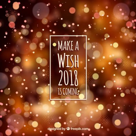 new year 2018 color blurred new year 2018 background in warm colors vector