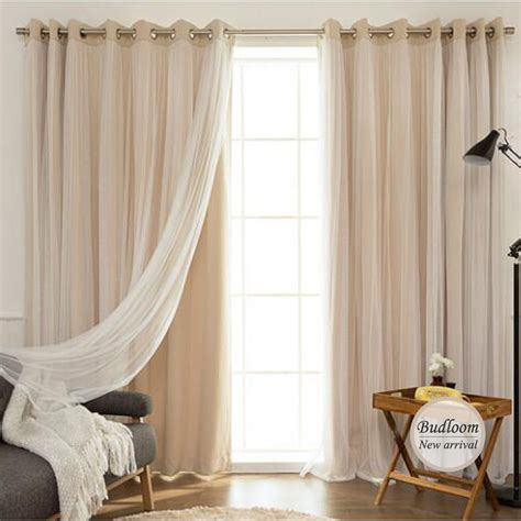 modern curtains korean style solid modern curtain tulle window set of mint
