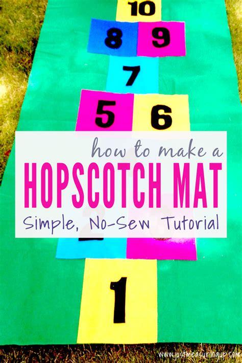 how to make a diy hopscotch mat easy no sew tutorial