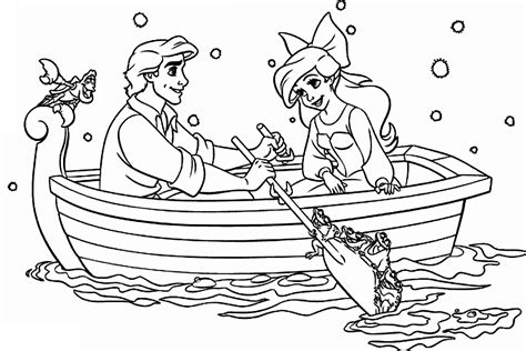 little mermaid and eric coloring pages ariel coloring pages free printable