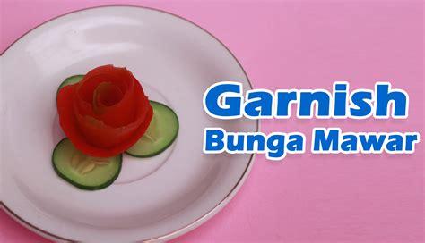 Mie Sayur Tomat cara membuat garnish bunga mawar dari tomat