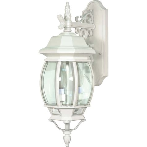 White Patio Lights Shop 24 14 In H White Outdoor Wall Light At Lowes