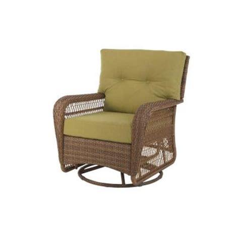 Swivel Wicker Patio Chairs Martha Stewart Living Charlottetown Brown All Weather Wicker Patio Swivel Rocker Lounge Chair