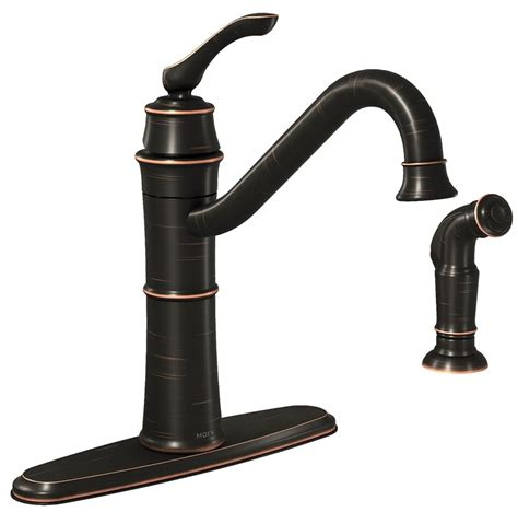 moen wetherly kitchen faucet 9 1 4 in x 8 5 16 in spout