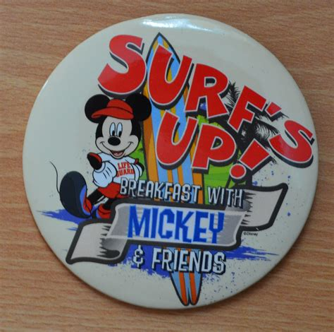 Surf S Up Breakfast With Mickey And Friends At Pch Grill - surf s up breakfast with mickey and friends button disney pin disneyland restaurant