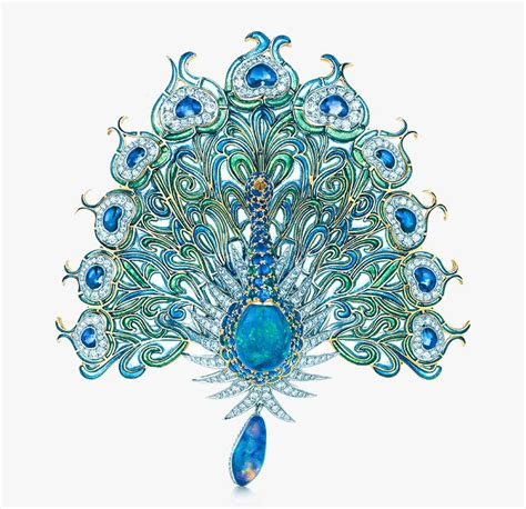 Peacock Brooch from out of the blue by co this glorious