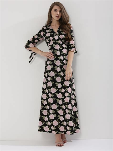Printed Ruffle Sleeve Dress buy femella printed ruffle sleeve maxi dress for