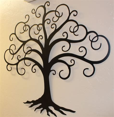 metal wall decor and sculptures black swirled tree of 24 quot metal wall decor by hgmw ebay