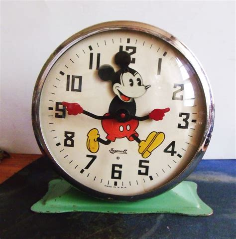 mickey mouse alarm clock 1934 ingersoll quot animated