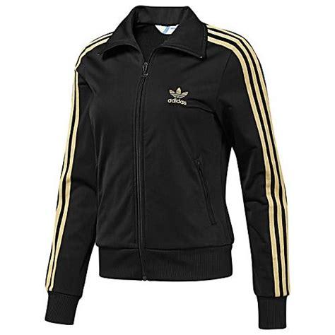Hoodie Adidas Firebird Original adidas originals s firebird track jacket in black with metallic gold werrkin fashion
