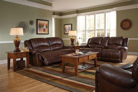 paint colors living room brown leather furniture