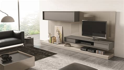Contemporary Wall Bed Units - contemporary wall unit with textured wood veneers and